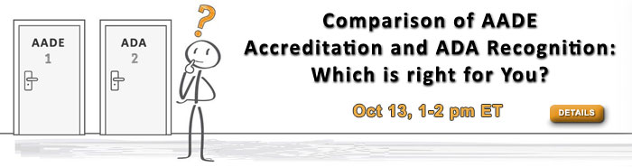 Comparison of AADE Accreditation and ADA Recognition